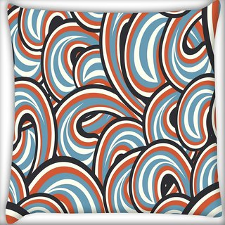 Snoogg Mixed Color Pattern Digitally Printed Cushion Cover Pillow 18 x 18 Inch