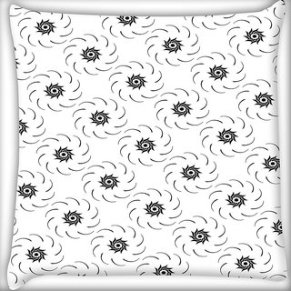 Snoogg Flowing Flower Digitally Printed Cushion Cover Pillow 18 x 18 Inch