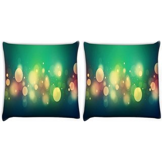 Snoogg Abstract Colorful Bubbles Digitally Printed Cushion Cover Pillow 22 x 22 Inch