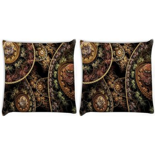 Snoogg Fractal Domes Digitally Printed Cushion Cover Pillow 22 x 22 Inch