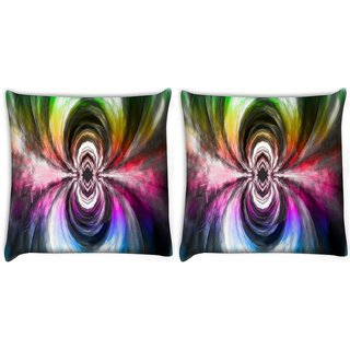 Snoogg Music Maddness Digitally Printed Cushion Cover Pillow 22 x 22 Inch
