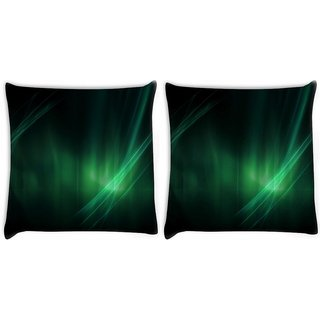 Snoogg Abstract Green Digitally Printed Cushion Cover Pillow 22 x 22 Inch