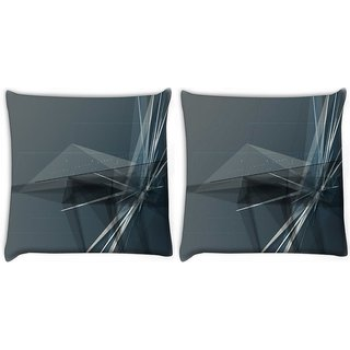 Snoogg Abstract Clock Digitally Printed Cushion Cover Pillow 22 x 22 Inch