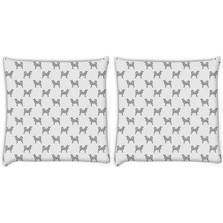 Snoogg Grey Dog Digitally Printed Cushion Cover Pillow 22 x 22 Inch