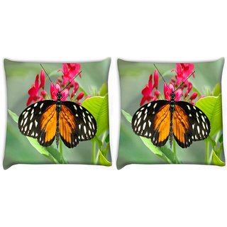 Snoogg Dragon Butterfly Digitally Printed Cushion Cover Pillow 22 x 22 Inch