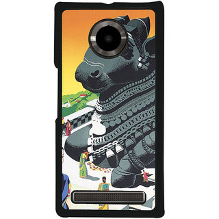 Ayaashii Lion Face Back Case Cover for YU Yuphoria::Micromax Yuphoria YU5010