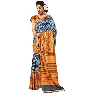 Yuvanika Multicolor Printed Art Silk Saree with Blouse-suw1008