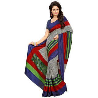 Yuvanika Multicolor Printed Art Silk Saree with Blouse-svimala2109