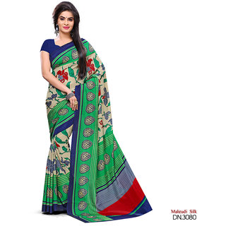Yuvanika Multicolor Printed Art Silk Saree with Blouse-svimala3080