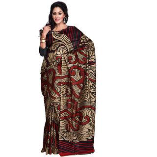 Yuvanika Multicolor Printed Bhagalpuri Silk Saree with Blouse-yuvef0007