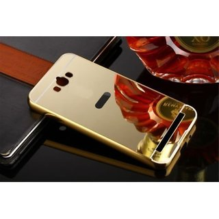 ITbEST Golden Effect Luxury Metal Bumper Acrylic Mirror Back Cover Case For Asus Zenfone Max