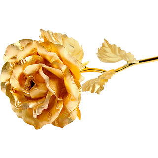 Gold Dusts Gold Plated Artificial Rose Flower