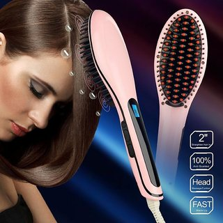 Get best deal for Original Fast Hot Hair Straightener Comb Brush Lcd Display Flat Iron Styling at Compare Hatke