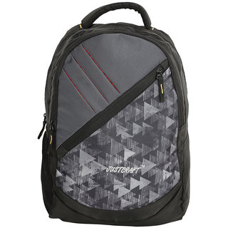 Justcraft Gray Water Resistant Backpacks