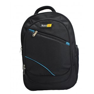 Skyline Black Laptop Backpack-Office Bag/Casual Unisex Laptop Bag-With Warranty- 905