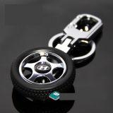 HYUNDAI Rotary Wheel Tyre Car Logo Keychain I10 I20 Eon Verna Sonata Elantra