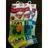 CHARM LADY SOCKS (SET OF 3 DESIGN LOVE)