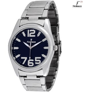 Firstrace Round Dial Silver Metal Strap Men'S Quartz Watch