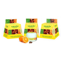 vaadi herbals Anti-acne Cream - Clove  Neem Extract (30 gms x3)