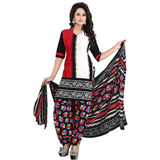 Trendz Apparels Multi Colored Crepe Printed Dress Material
