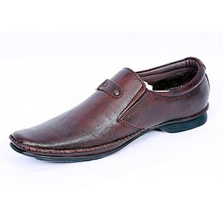 Valentino Modernistic Brown Men's Formal Shoes