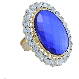 Woap Gold Non Plated Ring For Girl,Women
