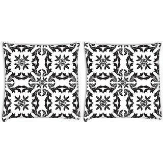 Snoogg Circles Pattern Grey Digitally Printed Cushion Cover Pillow 22 x 22 Inch