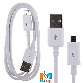 Micromax Canvas Tab P650 Compatible Android Fast Charging USB DATA CABLE White By MS KING
