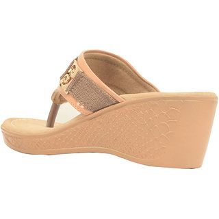 Ajanta Women's Beige Open Sandals