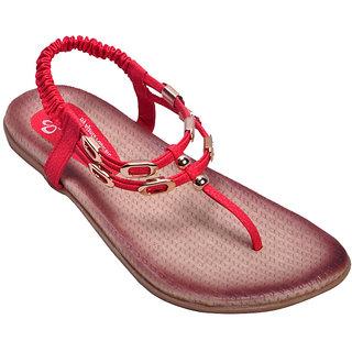 Ajanta Women's Red Open Sandals