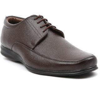 Ajanta Men's Brown Lace-up Formal Shoes