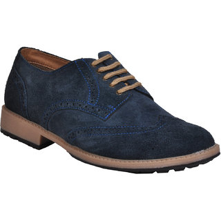 Ajanta Men's Blue Lace-up Formal Shoes