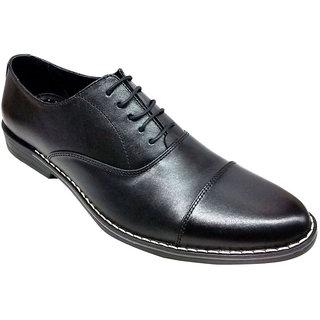 Ajanta Men's Black Lace-up Formal Shoes