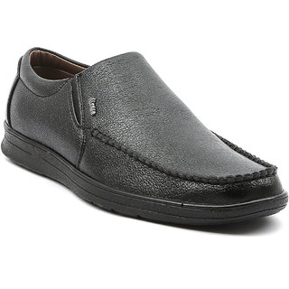 Ajanta Men's Black Open Formal Shoes