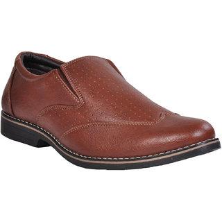 Ajanta Men's Tan Open Formal Shoes