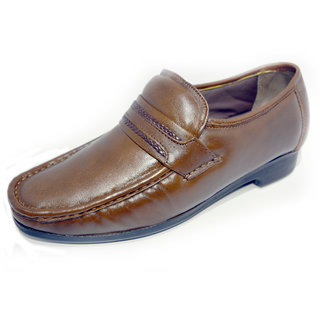 Ajanta Men's Brown Open Formal Shoes