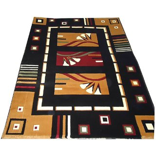 Imran Carpets Prested by Synthetic Multicolor Home made Designer Carpet Alikanta-5x7-16