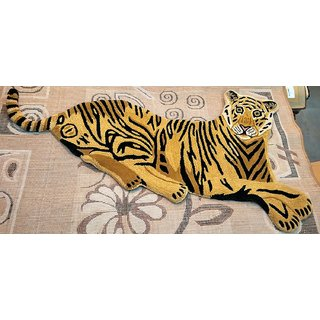 Imran Carpets Prested by Synthetic Multicolor Home made Designer Carpet Animal-carpets-2