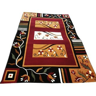 Imran Carpets Prested by Synthetic Multicolor Home made Designer Carpet Alikanta-6x9-8