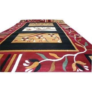 Imran Carpets Prested by Synthetic Multicolor Home made Designer Carpet Alikanta-5x7-3