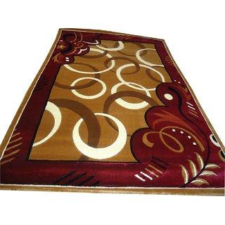 Imran Carpets Prested by Synthetic Multicolor Home made Designer Carpet Alikanta-5x7-6