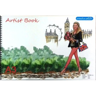 ARTIST DRAWING BOOK SIZE A3 (42 X 29 cm)