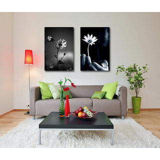OM SAI Home Decor Office Decor (2 Pieces) Eco Vinyl With Frame SIZE 1,16x20 , 2,16x20, inches
