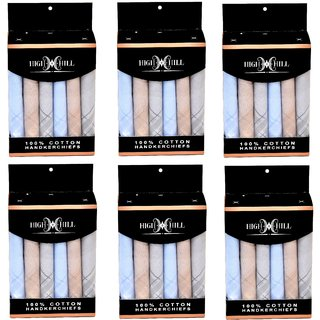 HighHill -Pack of 36-Men's 100 Natural Cotton Handkerchief