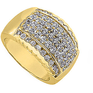 LoveBrightJewelry Polished Yellow Gold 14K Fashion Diamond Ring