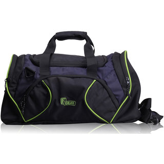 F Gear 27 liter Travel Duffle bag Cum Gym Bag (Black Navy Blue Green)