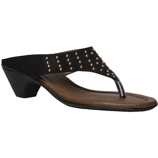 Bata Bolt Heel Women's Black Block Heels