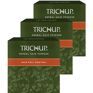 Trichup Hair Fall Control Herbal Hair Powder (120 g x 3) (Pack of 3)