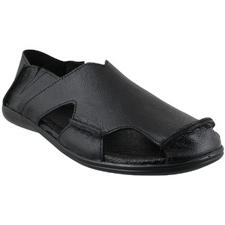Accolade Men's Black Slip on Outdoor Sandals