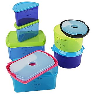Fit & Fresh Kids Reusable Lunch Box Container Set with Built-In Ice Packs, 14-Piece Healthy Lunch and Snack Kit, BPA-Fre